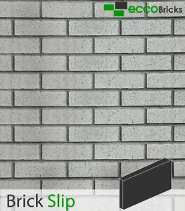 Brick Slips Wall Cladding Brick Tiles Real Clay Decoration - Natural Silver Grey