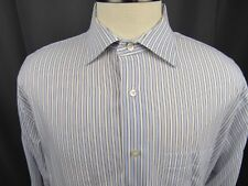 Peter millar 17 Long White Blue Brown Striped