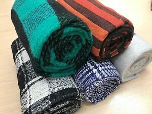 Woolen check Throws  Bedspread  Sofa Covers  Car  Blankets 150cmx 225cms