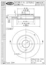 Disc Brake Rotor-Disc, Rear Drum Front Magneti Marelli 1AMVR10124