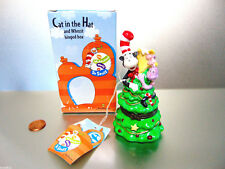 New Ceramic Dr Suess Cat In Hat Whozit Hinged Trinket Box Christmas Tree Figure