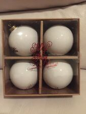 S4 NEW POTTERY BARN SILLY STAG BALL CHRISTMAS ORNAMENTS New In Box