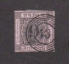 Baden stamp #4a, used, Freiburg cancel, thin paper, 1851, SCV $160.00