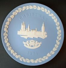 Wedgwood 1974 Christmas Plate Jasperware : The Houses of Parliament