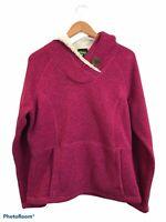 Koppen Women's Long Sleeve Pink Fleece Pullover Jacket Size XL Hooded Pockets