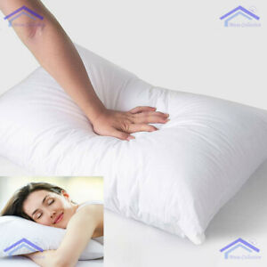 2x Luxury Hollow Fibre Filled Pillows - Super Bounce Back Hotel Quality Pillows