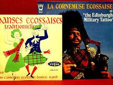 Lot 2 ALBUMS VINYLES - CORNEMUSE,  DANSES  ECOSSAISE TRADITIONNELLES