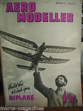 AEROMODELLER APRIL 1955 TAIFUN HOBBY TORNADO HAWKER TEMPEST PLANS POTEZ 75