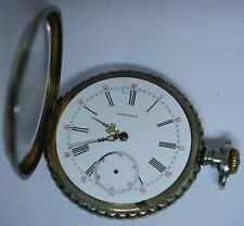 Longines open face pocket watch not working