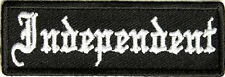 Independent  EMBROIDERED 3.0 INCH IRON ON  BIKER PATCH