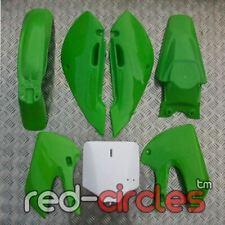 Green KLX Pit Bike plásticos conjunto Carenado 110cc 125cc 140cc 160cc KLX110 pitbike