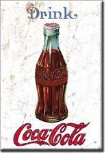1915 DRINK COCA COLA, COKE Bottle Vintage, Retro Tin Metal Sign Magnet USA