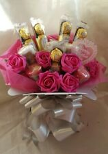 Mothers Day Yankee candle & Ferrero Rocher Pink Chocolate Bouquet - Gift hamper