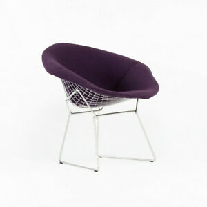 2021 Harry Bertoia for Knoll Diamond Chair with Full Iris Purple Boucle Cover
