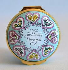 Halcyon Days Enamels Just To Say I Love You Valentines Day 1992 Trinket Box