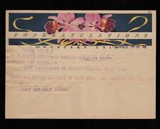 >orig. 1949 Cotton Bowl NORM VAN BROCKLIN Oregon Ducks *Western Union Telegram*