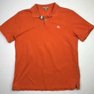 Burberry Brit Men's Orange Classic Fit Polo Size Large