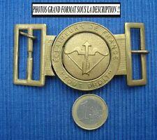 I Boucle de Ceinture Ancienne Eclaireur de France Boy Scout Belt Tout Droit