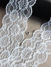 VINTAGE White LACE RIBBON TRIM 60/70mm WIDE BRIDAL CRAFTS wave edge wedding