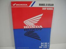 Manuel Atelier Honda SJ50V BALI 1993 a 1997 SH100 SCOOPY 100 1996 French English