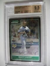 MATT KEMP 2006 Bowman Chrome Draft #BDP1 BGS GEM MINT 9.5 Dodgers, Padres RC