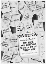 SABENA BELGIAN WORLD AIRLINES DEALS YOU AN EXTRA TRUMP DAILY IN BIZ GAME 1949 AD