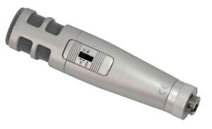 qtx CM2 stereo Mikrofon Kondensatormikrofon Elektret Mikro für Reporter/Rundfunk