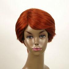 perruque afro femme 100% cheveux naturel courte cuivré intense ref WHIT 04/130