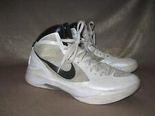 size 40 56eb4 58f19 Nike Hyperdunk Zoom Flywire Men SZ 11.5 White Black Beige Basketball Shoes