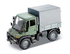 MERCEDES-BENZ UNIMOG u400, verde, Welly Auto Modello 1:32, Nuovo, Confezione Originale