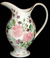 Blue Ridge China WHIG ROSE Handpainted REBECCA Shape pitcher / jug