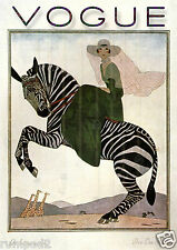 Vogue Poster/ Lady on a Zebra 1926  / 210-297 mm(A4)