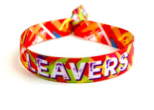 LEAVERS Wristbands End of School Festival Party  - School Leavers Party Favours