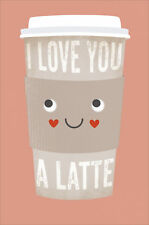 I Love You A Latte Humour Valentine's Day Greeting Card Fun Cards
