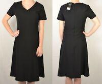 NEXT UK 12 EU 40 BLACK LADIES A LINE WORKWEAR DRESS 305 NEW