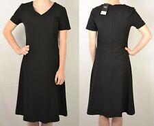 NEXT UK 14 EU 42 BLACK LADIES A LINE WORKWEAR DRESS 305 NEW