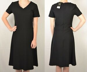 NEXT UK 12 EU 40 BLACK LADIES A LINE WORKWEAR DRESS 402 NEW