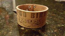 Philadelphia Eagles Crazy Horse Leather Cuff Bracelet - Brown Embossed NFL