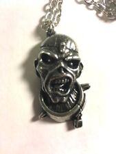 Alchemy Rocks Iron Maiden Eddie Piece Of Mind Silver Necklace