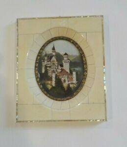 19th C. Miniature Watercolor Castle Scenic Painting (#7)