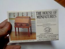 The House of Miniatures 40067 Chippendale Desk on Frame / Circa 1770 NEW