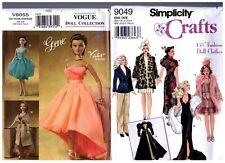 "Vogue Gene 8055 & Simplicity 9049 15 1/2"" Doll Pattern s Retired / Uncut"