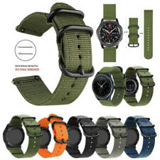 Quick Release Woven Nylon Canvas Fabric Watch Band Strap Stainless Steel Buckle