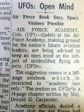 1970 newspaper US says UFO Flying Saucers are POSSIBLE +Very Early electric cars