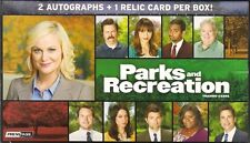 PARKS & RECREATION PRESS PASS COMPLETE 90 CARD BASE SET W/ WRAP & DISPLAY BOX NM