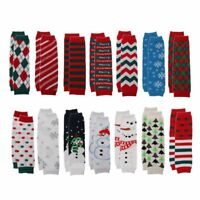 Christmas Leg Warmers Girl Boy Cotton Stripe Wave Point Baby Crawling Socks