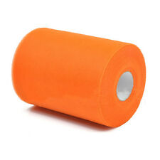 "Soft 6""x100yd Tulle Roll Spool Wedding Decor 6""x300' Orange HY"