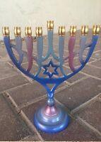 Aluminium Hanukkah Menorah with 9 Candle Holders Chanukah Menora Jewish Hanukia