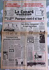 """Le Canard Enchainé 3/07/1985; Mystère à """"l'humanité"""" des pages disparaissent"""