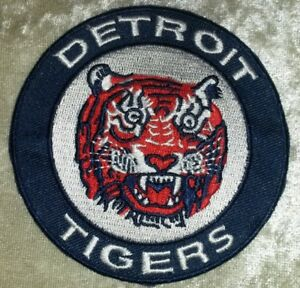"""Detroit Tigers Round 3.5"""" Iron /Sew On Embroidered Patch~FREE SHIP!~US Seller!"""